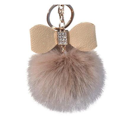 porte-clés pompon nœud camel, shineboutique