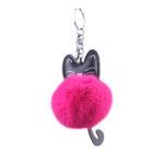 shineboutique, porte-clés pompon chat, porte-clé pompon fourrure, porte-clés boule de poil