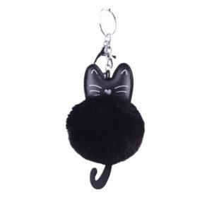 shine boutique, porte-clés pompon chat, porte-clé pompon fourrure, porte-clés boule de poil
