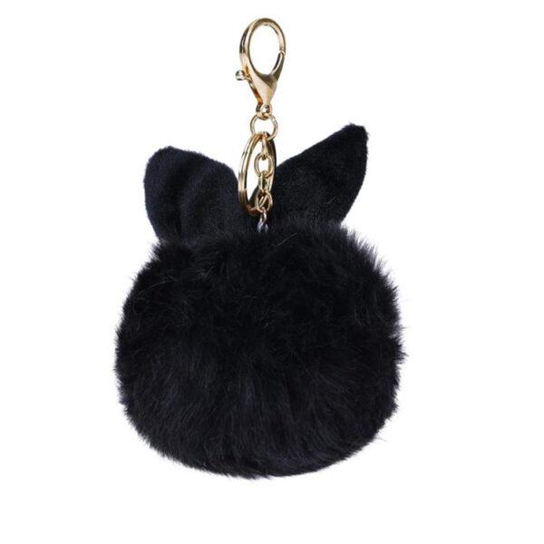 shine boutique, porte-clés pompon lapin, porte-clé pompon fourrure, porte-clés boule de poil