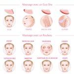 shine boutique, coffret massage facial quartz rose, rouleau de jade, rouleau de massage visage et corps, rouleau de cristal, soin visage