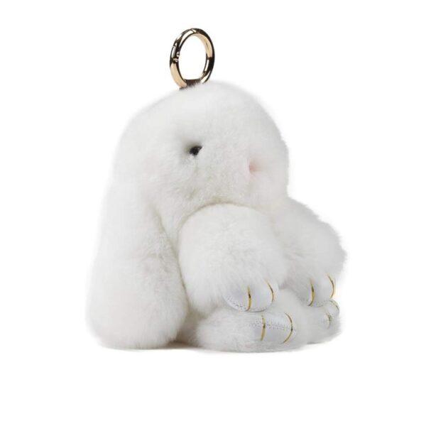 shineboutique, porte-clés lapin fourrure, lapin peluche, porte-clé peluche, porte-clé mignon et doux