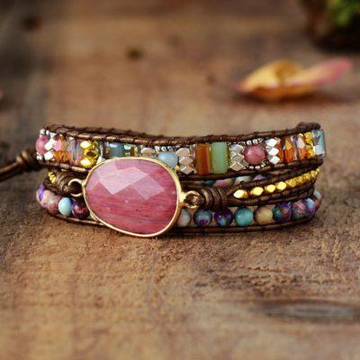 """shineboutique, Bracelet Jaspe """"force et sérénité"""", bracelet pierre naturelle, bracelet bohème, bracelet shambala, bracelet perles"""