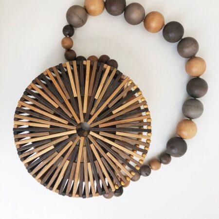 shine boutique, sac bandoulière bambou Tao, sac à main en bambou, sac en bois, sac vegan