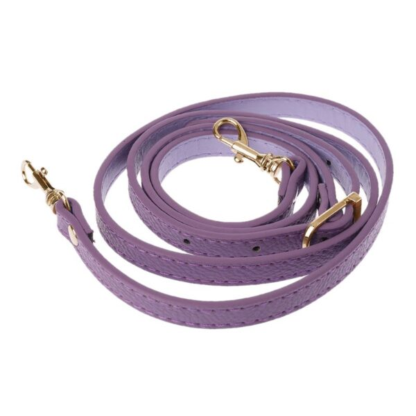 shine boutique, bandoulière ajustable en cuir violette pour sac à main