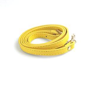 shine boutique, bandoulière ajustable en cuir jaune pour sac à main