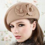 shineboutique, béret fleur, béret vintage laine, béret rétro