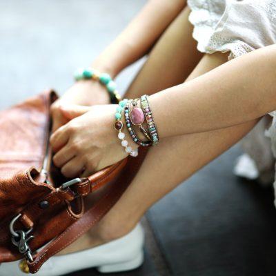 bracelet manchette rhodochrosite