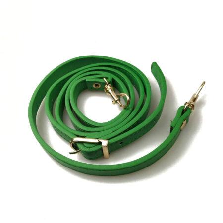 shine boutique, bandoulière ajustable en cuir verte pour sac à main
