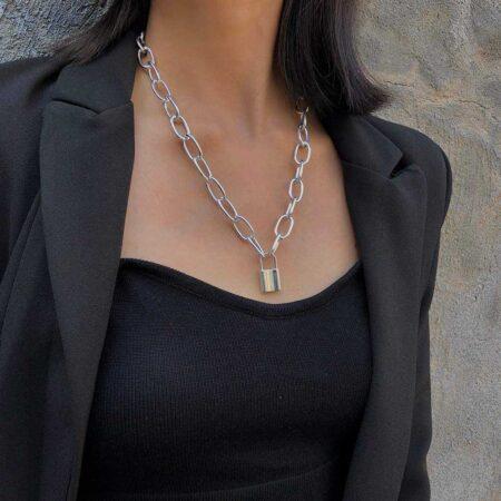 collier chaine cadena argent 2