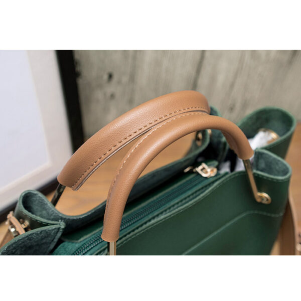 sac cabas cuir adriana vert, sac bandoulière femme