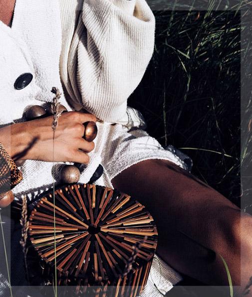 sac bambou bandoulière brun, shineboutique