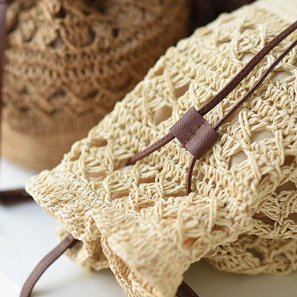 sac paille bandoulière crochet kali, shineboutique