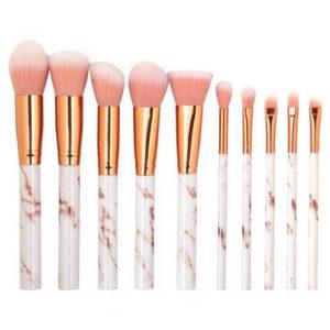 shineboutque, set de pinceaux maquillage marbre, lot de pinceaux pour maquillage visage et yeux