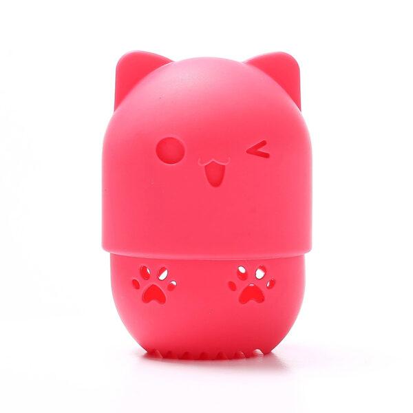range éponge chat à maquillage