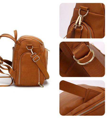shineboutique, sac à dos à langer cuir, sac à langer, sac maternité,