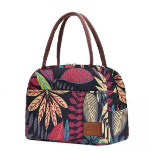 shineboutique, Sac Glaciaire Isotherme, lunch bag feuilles, sac repas isotherme