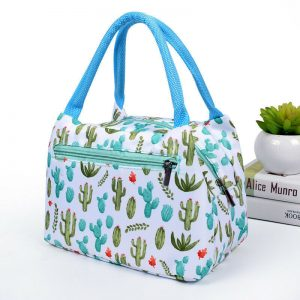 shineboutique, sac repas isotherme cactus, sac glaciaire, lunch bag