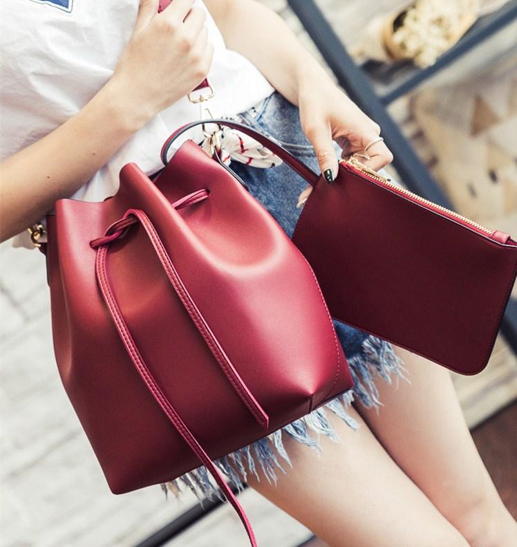 shineboutique, sac seau amitola rouge, sac bandoulière amovible, sac besace
