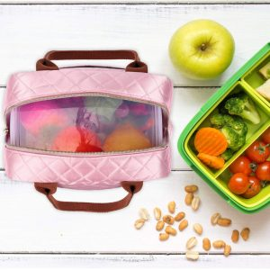 shineboutique, sac repas isotherme rose, sac glaciaire, lunch bag