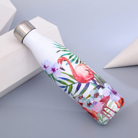 shineboutique, bouteille isotherme flamant rose, gourde isotherme, bouteille inox