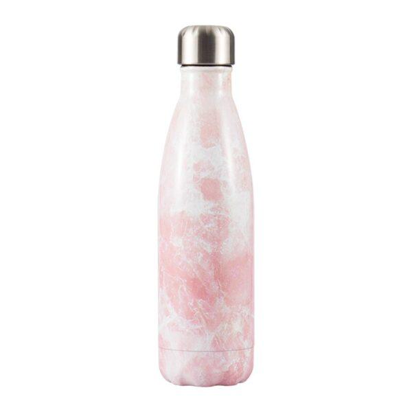 bouteille marbre rose