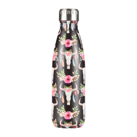 shineboutique, bouteille isotherme bohème, gourde isotherme, bouteille inox