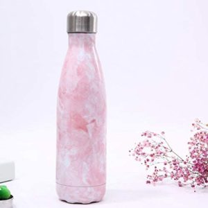 shineboutique, bouteille isotherme marbre rose, gourde isotherme, bouteille inox