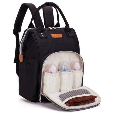 sac à dos à langer noir