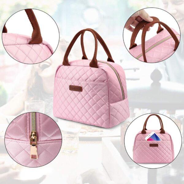lunch bag femme rose
