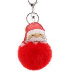 Porte-clé Père Noël Pompon