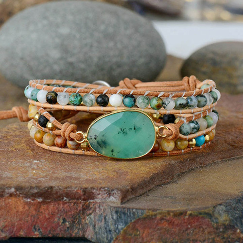 bracelet enroulé jade