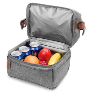 shineboutique, Sac Repas Isotherme Adulte Gris
