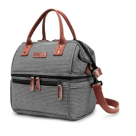 shineboutique, Sac Isotherme Repas Rayé