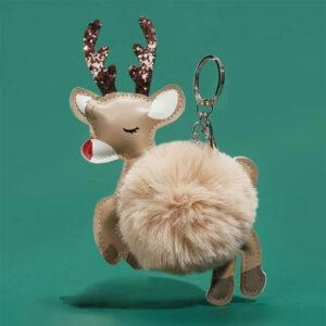 shineboutique, porte clé renne de noël