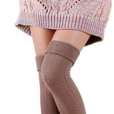 chaussettes hautes coton