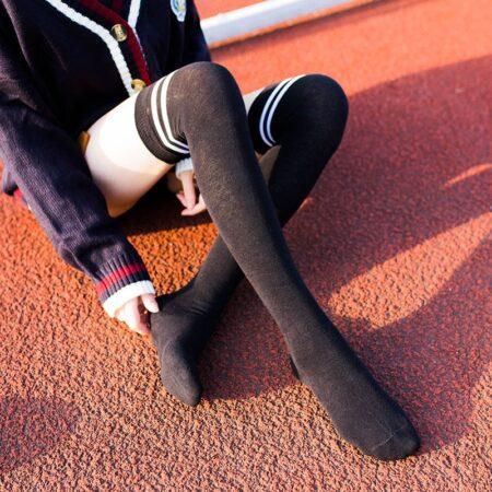 shineboutique, chaussette hautes rayées