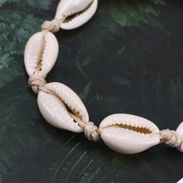 bracelet cauri blanc, shineboutique