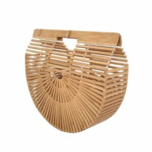 sac bambou demi-lune naturel, shineboutique