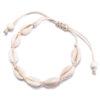 bracelet cauri blanc lien blanc