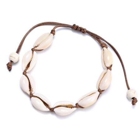 bracelet cauri marron, shineboutique