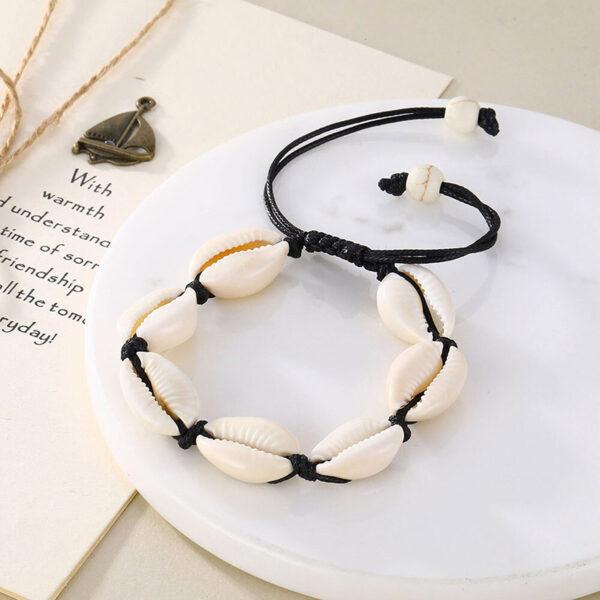 bracelet cauri noir, shineboutique