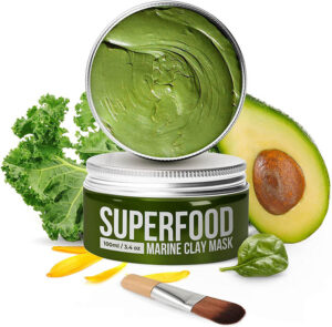 masque argile verte superfood, shineboutique