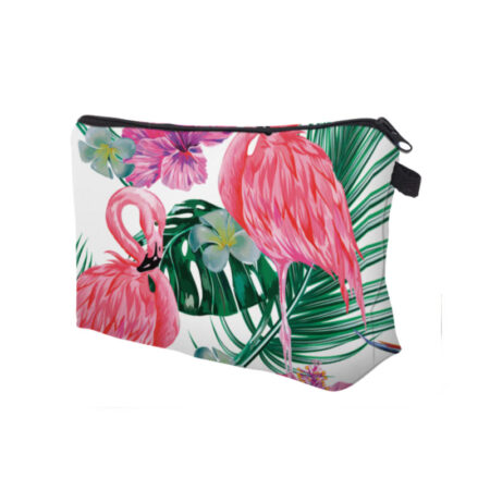 trousse maquillage flamant rose, shineboutique
