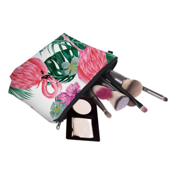 trousse maquillage flamant rose, shineboutique