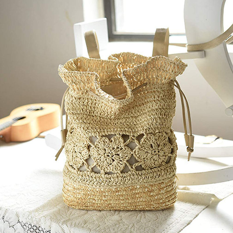 sac à dos paille et crochet jaya, shineboutique