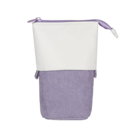 Trousse Pop-Up Cuir Violette