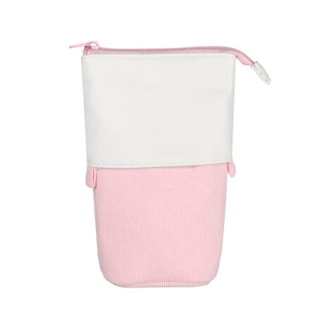 Trousse Pop-Up Cuir rose