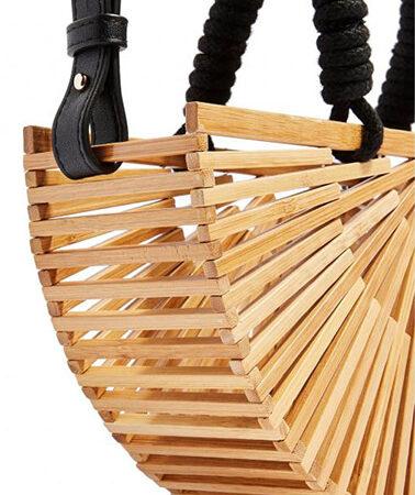 Sac Bambou Bandoulière Eventail, shineboutique