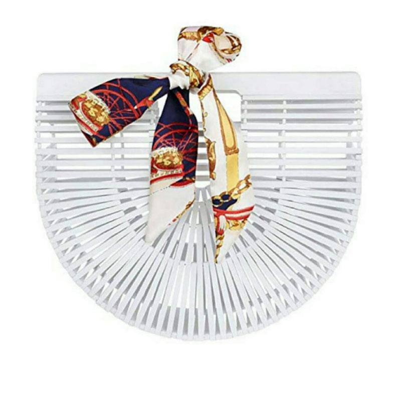 sac bambou demi-lune blanc, shineboutique